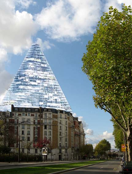 Proposal for pyramidal skyscraper in Paris